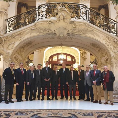 Algunos de los miembros asistentes a la sesión de la Junta de Gobierno Federación Española de Círculos y Casinos Culturales